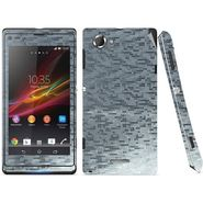 Snooky 18760 Mobile Skin Sticker For Sony Xperia L S36h C2105 - Silver