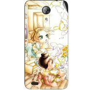 Snooky 42401 Digital Print Mobile Skin Sticker For Intex Aqua Style Mini - White