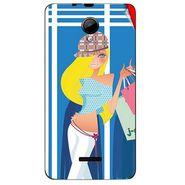 Snooky 42432 Digital Print Mobile Skin Sticker For Micromax Canvas Fun A76 - Blue