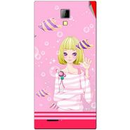 Snooky 42543 Digital Print Mobile Skin Sticker For Micromax Canvas Express A99 - Pink