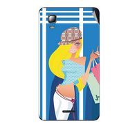 Snooky 42564 Digital Print Mobile Skin Sticker For Micromax Canvas Doodle 3 A102 - Blue