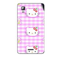 Snooky 42569 Digital Print Mobile Skin Sticker For Micromax Canvas Doodle 3 A102 - Pink