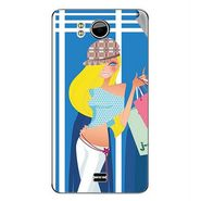 Snooky 42630 Digital Print Mobile Skin Sticker For Micromax Canvas DOODLE A111 - Blue