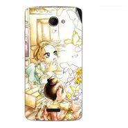 Snooky 42676 Digital Print Mobile Skin Sticker For Micromax Canvas Elanza 2 A121 - White