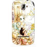Snooky 42841 Digital Print Mobile Skin Sticker For XOLO A500 - White