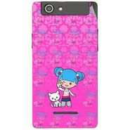 Snooky 42869 Digital Print Mobile Skin Sticker For XOLO A500s - Pink