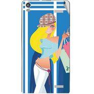 Snooky 42916 Digital Print Mobile Skin Sticker For XOLO A1000S - Blue