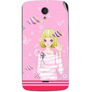 Snooky 42950 Digital Print Mobile Skin Sticker For Xolo Omega 5.5 - Pink