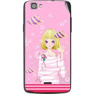 Snooky 42983 Digital Print Mobile Skin Sticker For Xolo Q610S - Pink
