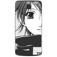 Snooky 43011 Digital Print Mobile Skin Sticker For Xolo Q700 - Grey