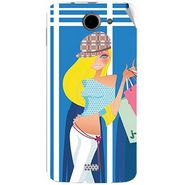 Snooky 43059 Digital Print Mobile Skin Sticker For Xolo Q1000 - Blue