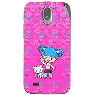 Snooky 43144 Digital Print Mobile Skin Sticker For Xolo Play T1000 - Pink