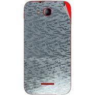 Snooky 43205 Mobile Skin Sticker For Intex Aqua CURVE Mini - silver