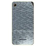 Snooky 43385 Mobile Skin Sticker For Intex Aqua Power HD - silver