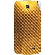 Snooky 43497 Mobile Skin Sticker For Intex Aqua SUPERB - Golden