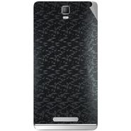 Snooky 43716 Mobile Skin Sticker For Lava Iris Fuel 50 - Black