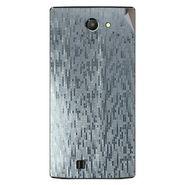 Snooky 43757 Mobile Skin Sticker For Lava Iris 456 - silver