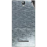 Snooky 43793 Mobile Skin Sticker For Lava Iris 504Q Plus - silver