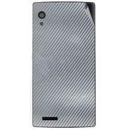 Snooky 43806 Mobile Skin Sticker For Lava Iris Fuel 60 - silver