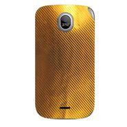 Snooky 43977 Mobile Skin Sticker For Micromax Ninja A89 - Golden