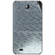 Snooky 44093 Mobile Skin Sticker For Micromax Superfone A101 - silver