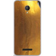Snooky 44373 Mobile Skin Sticker For Micromax Micromax Canvas Spark Q380 - Golden