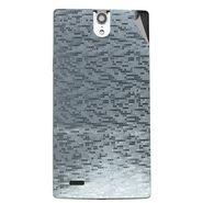 Snooky 44669 Mobile Skin Sticker For Xolo Q1010i - silver