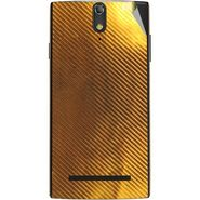 Snooky 44673 Mobile Skin Sticker For Xolo Q1020 - Golden