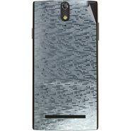 Snooky 44681 Mobile Skin Sticker For Xolo Q1020 - silver
