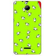 Snooky 45954 Digital Print Mobile Skin Sticker For Micromax Canvas Fun A76 - Green