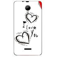 Snooky 45957 Digital Print Mobile Skin Sticker For Micromax Canvas Fun A76 - White
