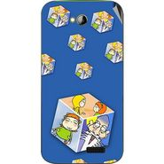 Snooky 46000 Digital Print Mobile Skin Sticker For Micromax Bolt A089 - Blue