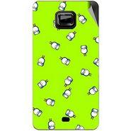 Snooky 46114 Digital Print Mobile Skin Sticker For Micromax Ninja A91 - Green