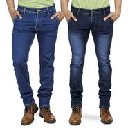 Pack of 2 Blended Cotton Slim Fit Jeans_5021060 - Blue