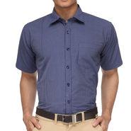 Rico Sordi Half Sleeves Stripes Shirt_R003hs - Blue
