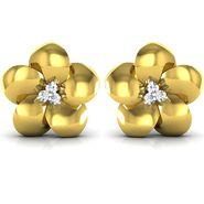 Ag Real Diamond Pranali Earrings_Agse0054y