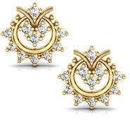 Avsar Real Gold and Swarovski Stone Karnataka Earrings_Ave002yb