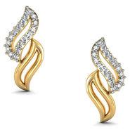 Avsar Real Gold and Swarovski Stone Karnataka Earrings_Bge063yb
