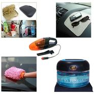 Car meal Combo Includes Cup holder tray + Micro fibre glove + Vaccum cleaner + My Tone Grace Car Air Freshener + Non Slip Dash Mat