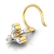 Avsar Real Gold & Swarovski Stone Jammu Nose Pin_Av03yb