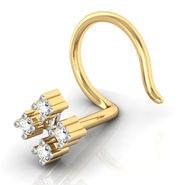 Avsar Real Gold & Swarovski Stone Kokan Nose Pin_Av13yb