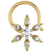 Avsar Real Gold & Swarovski Stone Rashi Nose Pin_Av19yb