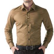 Full Sleeves Cotton Shirt_brwnsht - Brown