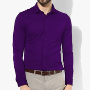 Full Sleeves Cotton Shirt_prplsht - Purple