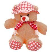 Kaku loveable Teddy with Cap& Holding Gift_DKK-24 A