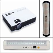 Vizio VZ-D400 Portable Projector + Bluetooth Gaming Speaker + Emergency Light with Built-In Mobile Charger