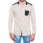 Brohood Slim Fit Full Sleeve Cotton Shirt For Men_A5064 - Peach