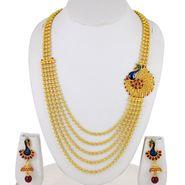 Spargz Brass Metal Necklace Set_Ains071