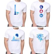 Pack of 4 Oh Fish Graphic Printed Cotton Tshirts_Combo3 - White