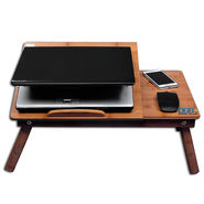 DGB Murray Wooden Laptop Table with Cooling Fan - Wooden